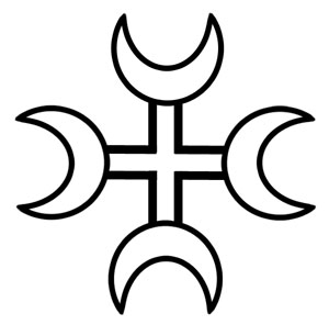 The Moon Cross was a common sacred symbol among the ancient peoples of Northern Europe