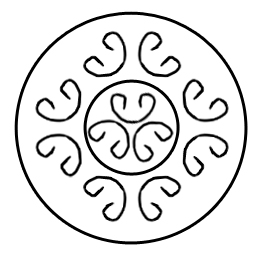 Symbols of arcs on an artefact of the pre-Christian period of history of Vyatichi